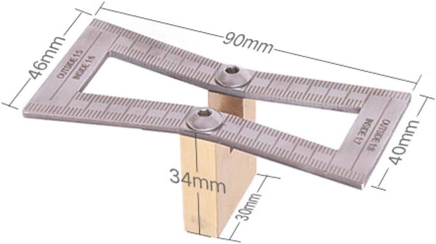 Dovetail Ruler,Woodworking Crossed Templates Drawing Line Dovetail ...