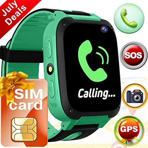 Kids Smart Watch Phone[FREE SIM],GPS Tracker Watch Wrist with SOS Camera Touch Screen Smartwatch, Outdoor Travel Electronic Learning Toys for 3-12 Year Old Boys Girls Kids Prime Summer Holiday Gift