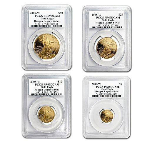 2008 W 4-Coin Proof Gold American Eagle Set PR-69 PCGS PR-69