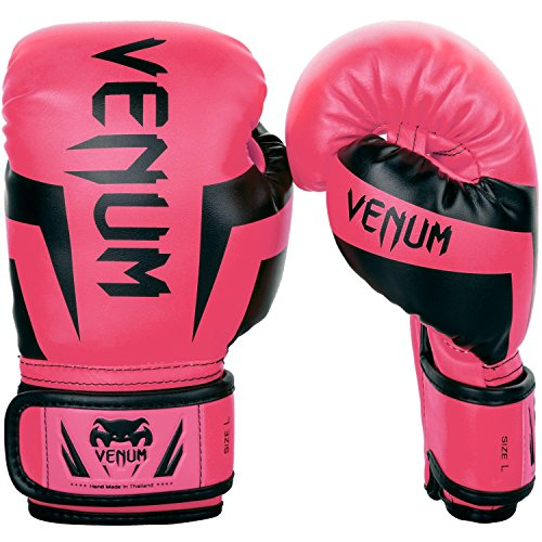 Venum Kids Elite Boxing Gloves, Neo Pink, Medium (6-8 Years)