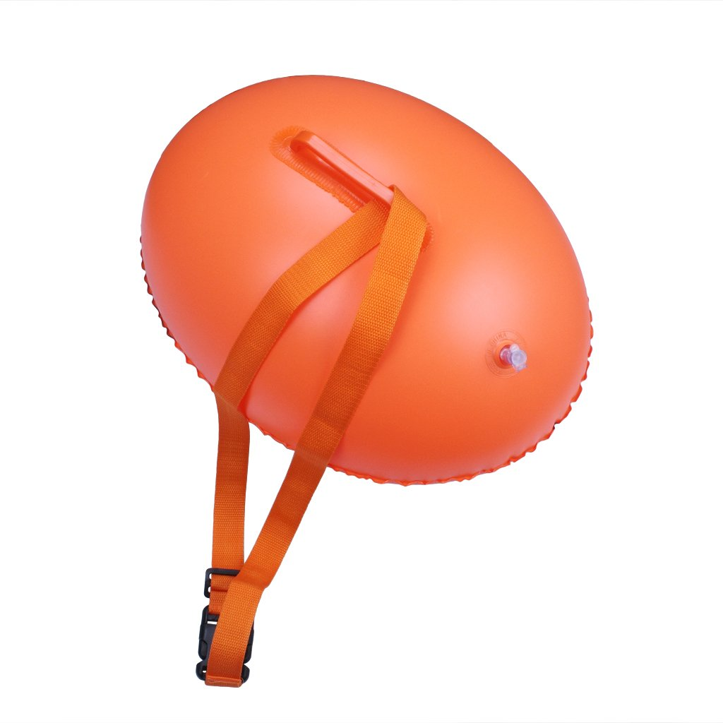 OWUDE Boya de natación nadadores de aguas abiertas - Flotador ligero y visible para un entrenamiento seguro y bolsas de natación de carreras Boya de deriva ...