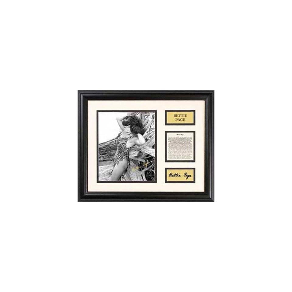 Bettie Page   Leopard Bikini   Framed 7 x 9 Photograph