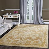 Cheap Safavieh Antiquities Collection AT841B Handmade Traditional Oriental Beige and Gold Wool Area Rug (8'3″ x 11′)