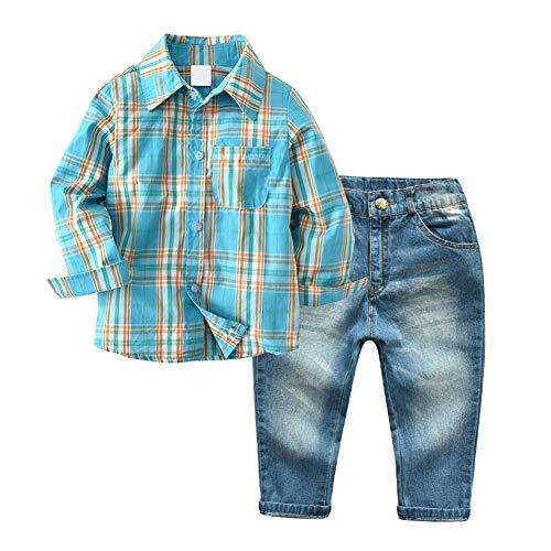 Little Boys' 2 Piece Long Sleeve Shirt and