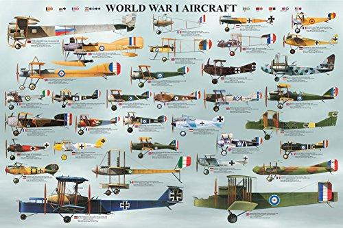 World War I Aircraft Poster 36 x 24in
