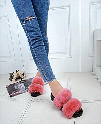 Home pantofole donna Leisure caldo autunno e inverno indoor pantofole peluche, 1, 38