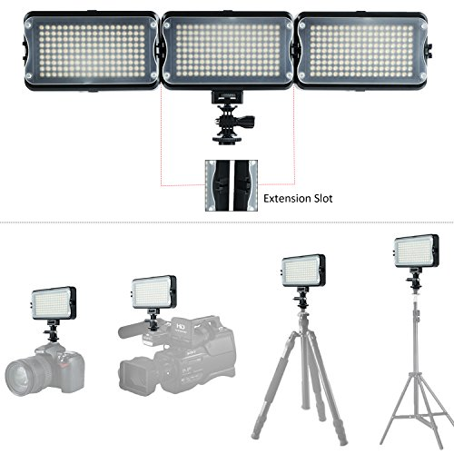 VILTROX-VL-162T-CRI95-LED-Video-Light-Portable-Camera-Photo-Light-Panel-Dimmable-for-DSLR-Camera-Camcorder-with-Battery-Charger-High-Brightness-3300K-5600K-Bi-Color-White-Filter-and-LCD-Display
