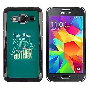 Shell-Star Arte & diseño plástico duro Fundas Cover Cubre Hard Case Cover para Samsung Galaxy Core Prime / SM-G360 ( Badass Mother Day Yellow Green )