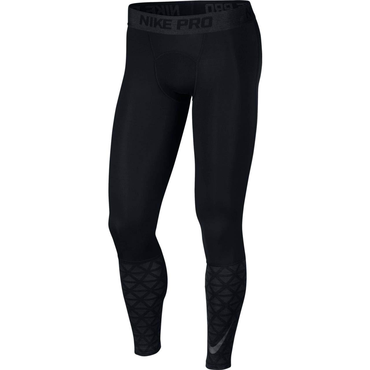 Nike Men's Pro Tights, Black/Anthracite/Black, Small