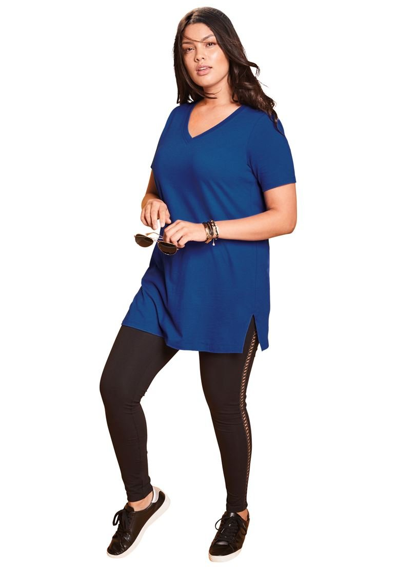 84df3247e88 Roamans Women s Plus Size V-Neck Maxi Tunic   Tunics   Clothing ...