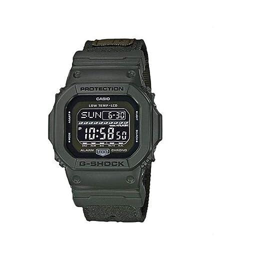 Casio Reloj Digital para Hombre de Cuarzo con Correa en Tela GLS-5600CL-3ER: Amazon.es: Relojes