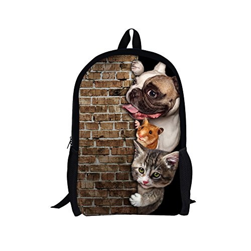 TOREEP Creative Cat Dog Printed Multifunctional Men Women Casual Backpack(Big) (Custom Contemporary Dance Costumes)