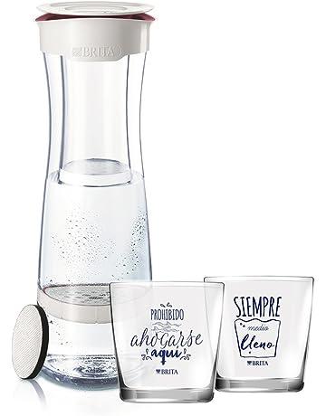 BRITA Fill & Serve Botella con Filtro, 1,3 l + 2 Vasos,