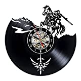 Decorative Vinyl Record Wall Clock Zelda Design