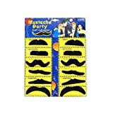 TOOGOO 12 Pack Self Adhesive Assorted Fake Moustache / Mustache Set Fancy Dress Party Birthday Stylish