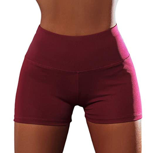 chenpaif Women Sexy High Waist Yoga Shorts Ruched Butt Lift ...