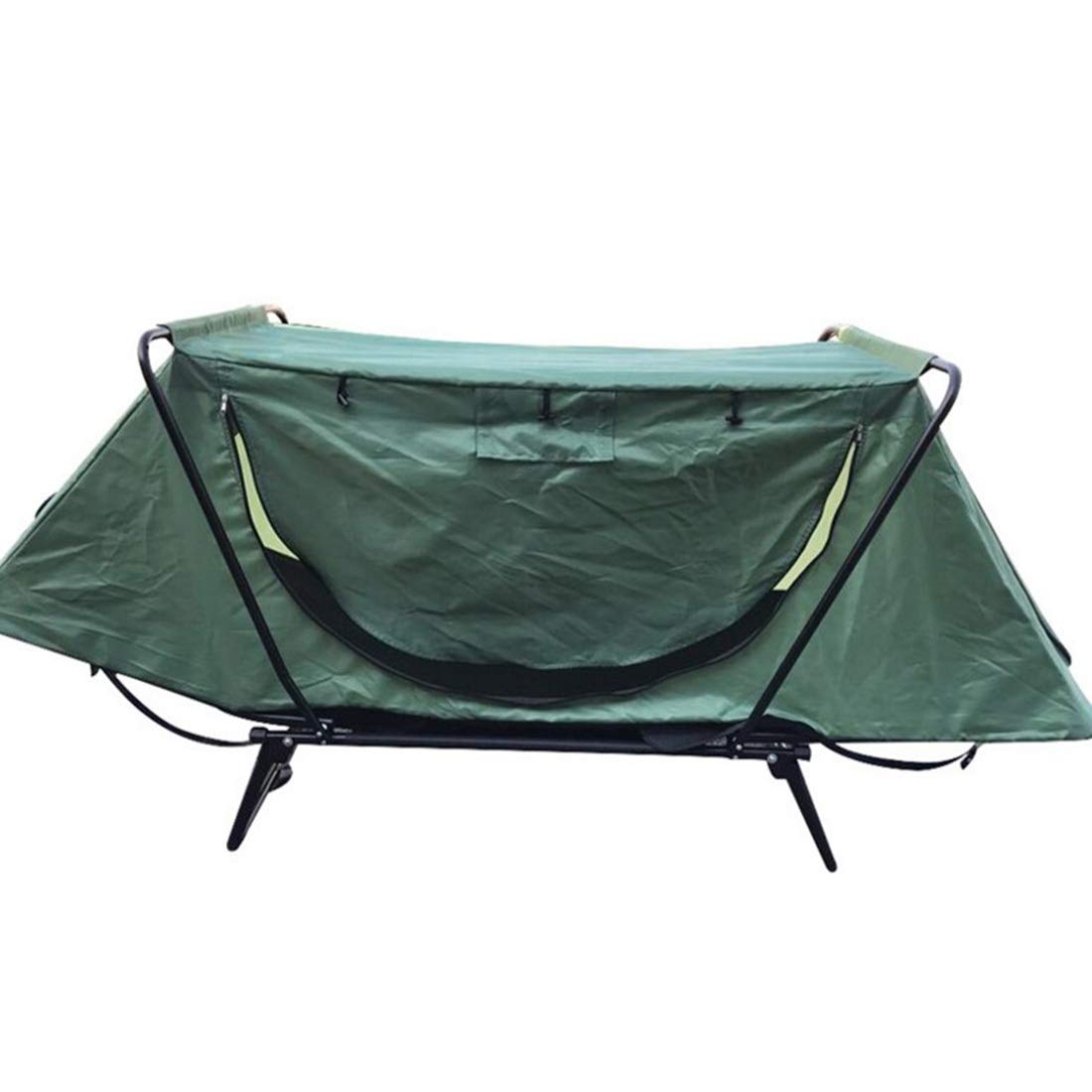Sakuldes Mehrzweck-Outdoor-Freizeit-Campingzelt Free Fishing Field Supplies Off-Site-Zelt Bett (Farbe   Grün)