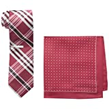 Nick Graham Men's Burgundy Tie Instant Style Kit, Red, One Size