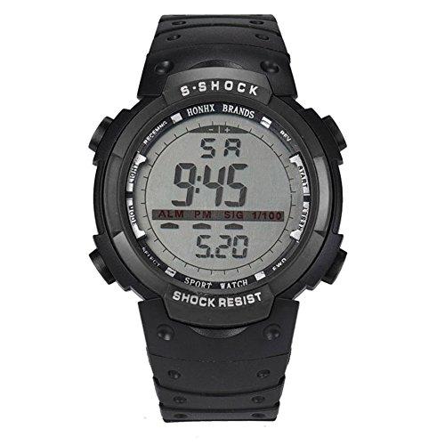 Fishing Moon Phase Watch - WinnerEco Fashion Waterproof Men LED Digital Stopwatch Date Rubber Sport Wrist Watch