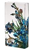 Vase Flower Vases Glass Vases 11.5'' Tall Vases Gift Boxed Van Gogh Irises