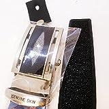 Belt Smart Lock Design C Real Stingray Shagreen Skin Leather Have Secret Channel