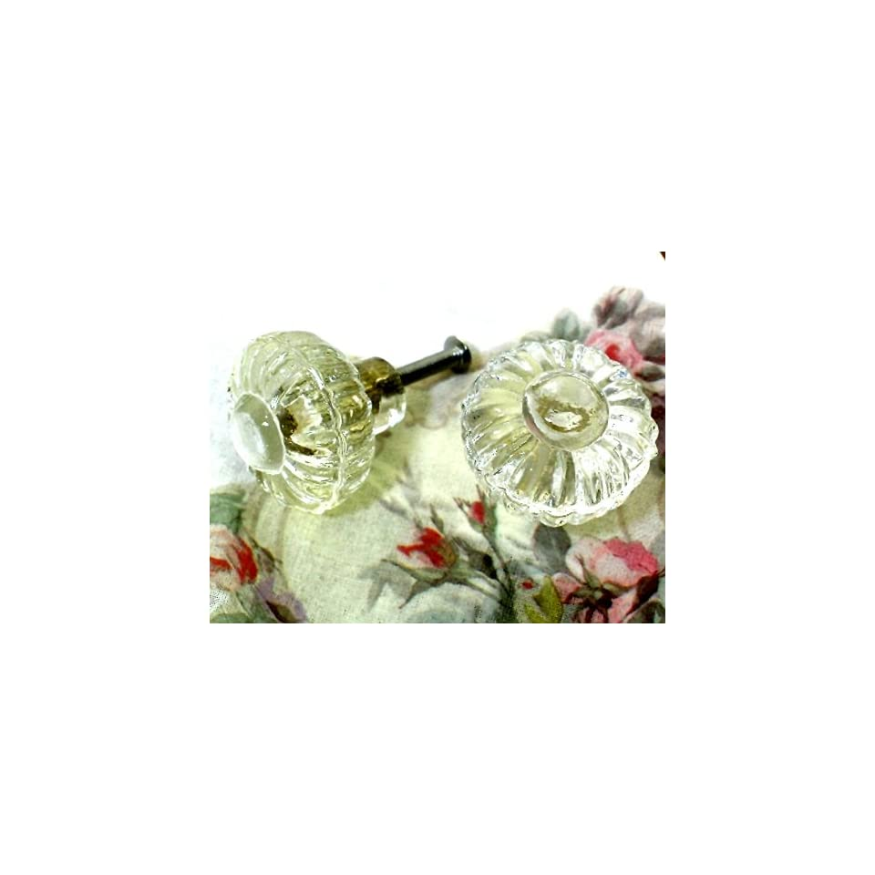 Vintage Style Glass Cabinet Drawer Knob Eclectic, Set of 6