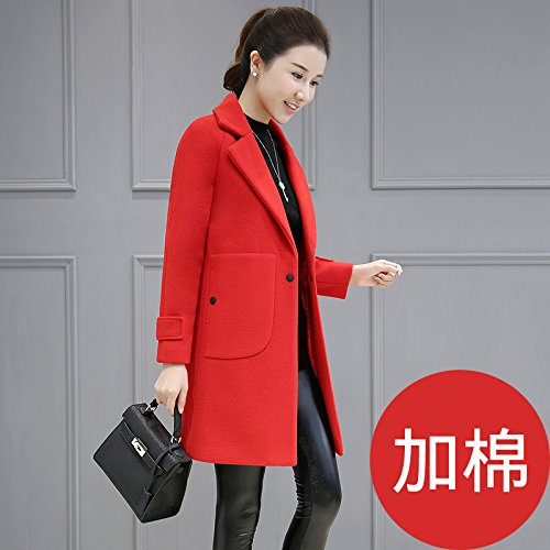 This Female Long Xuanku Big Decoration Ni red Autumn Jacket And Coats Winter With Jacket z1fWRnUf