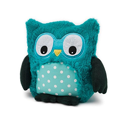 Intelex Hooty Microwaveable Plush, Turquoise