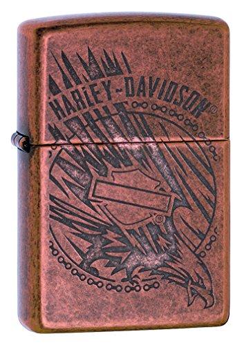 Zippo Harley-Davidson Antique Copper Logo Pocket Lighter