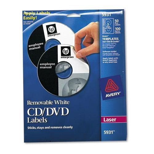 Avery AVE5931 - Laser CD/DVD Labels