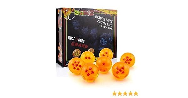 Outletdelocio. Conjunto de 7 bolas metacrilato estrellas de Dragon Ball Z. Diametro 43mm. En estuche de regalo: Amazon.es: Juguetes y juegos
