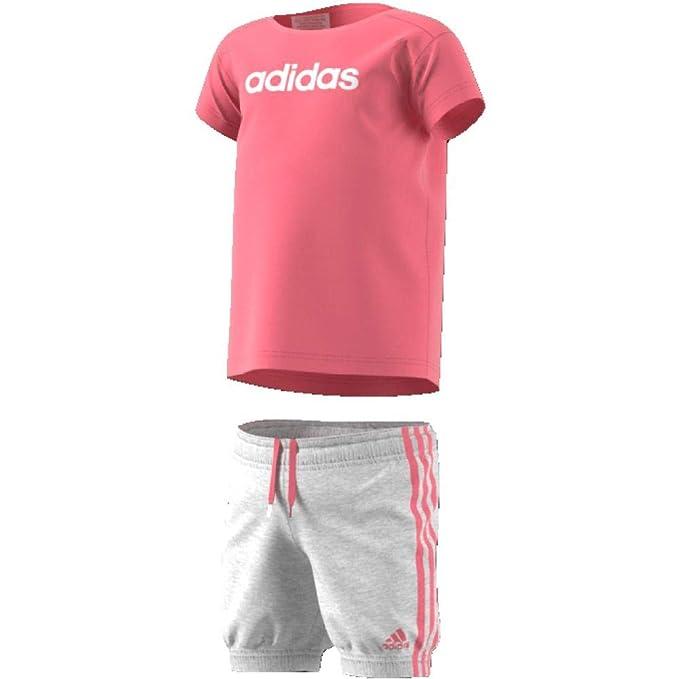 adidas Kinder Sommer Easy Set T Shirt Und Shorts