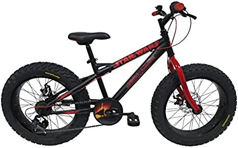 Star Wars Darth Vader Fatbike Bicicleta niño Negro 20