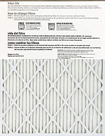 4 Pack Enviroflow Air Filter 14X18X1A Merv 8 Actual Size