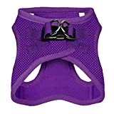 Voyager Step-in Air Dog Harness - All Weather Mesh, Step in Vest Harness for Small and Medium Dogs by Best Pet Supplies - Purple (Matching Trim), S