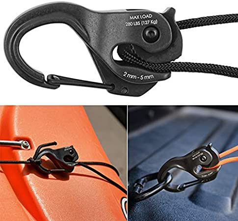 YONEER Knot-Free Cord Tightener Hook Aluminum Binding Rope Hook Portable Fixed Tool Without Rope