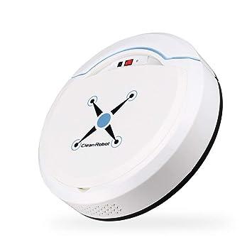 melysEU Robot Aspirador Automático Avanzado con Aspirador de Potencia Máxima para el Cabello de Mascotas, Alfombras, Bombas de Piso Duro (Blanco): ...