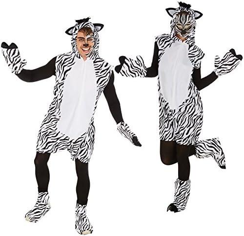 TecTake Disfraz de Cebra para Hombre Mujer | Excepcioal Disfraz ...