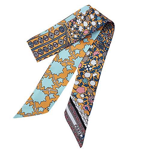 (Silk Scarfs for Women Hot Sale,deatu Clearance Ladies Ribbon Bag Hat Headband Tied Handle Small Ribbon Scarf(Da))