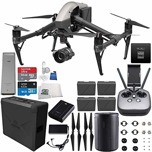 DJI Inspire 2 Premium Combo with Zenmuse X5S and CinemaDNG and Apple ProRes Licenses Videographer 120G Ultimate Bundle