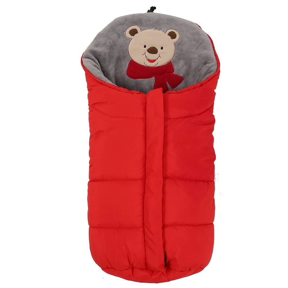 Hootech Universal Baby Stroller Sleeping Bag Footmuff Sack Velvet Warm for Baby (Red)