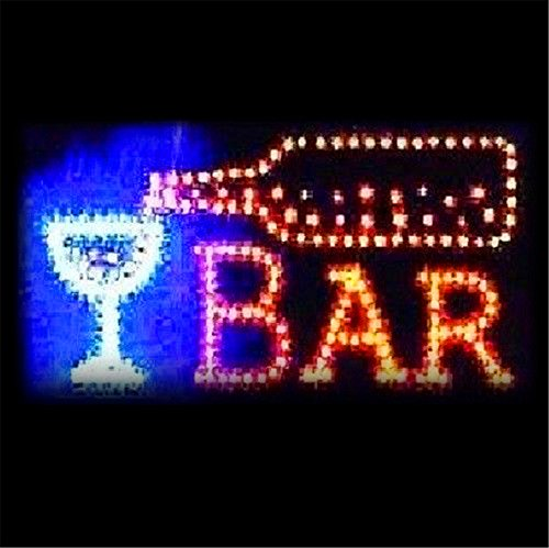 Ovovo Bar Sign with Light Animated Motion LED Open Signs for Busines Bar Club Sign. On/Off with Chain
