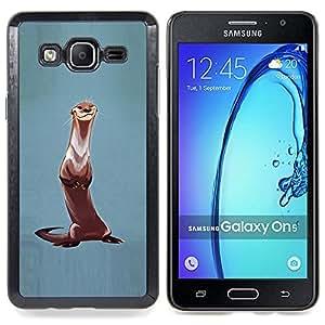 For Samsung Galaxy On5 O5 Case , Nutria Animal pintura Naturaleza Pintura - Diseño Patrón Teléfono Caso Cubierta Case Bumper Duro Protección Case Cover Funda