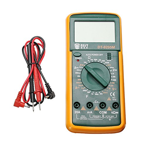 220V 60W Electric Soldering Iron Solder Station Welding Repair Tool Kit with BEST DT9205M Multimeter by SPK603