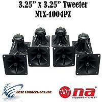 4 Pair of 3.25 x 3.25 Piezo Tweeter Element DJ Speaker Car Audio Square Single Super Horn NTX-1004PZ