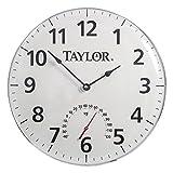 Clock/Therm 18d Wht