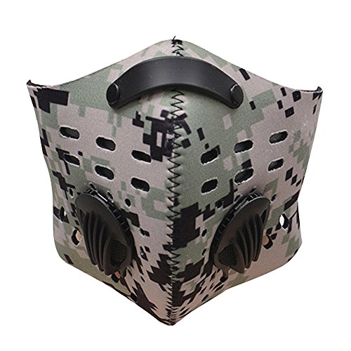 Baiyu Cycling Anti-dust pm2.5 Half Face Mask with Filter Bike Bicycle Active Carbon Anti-haze Windproof Cold-proof Breathable Mask for Motorcycle Ski Racing Outdoor Sports--Camouflage (Racing Girl Halloween Costume)