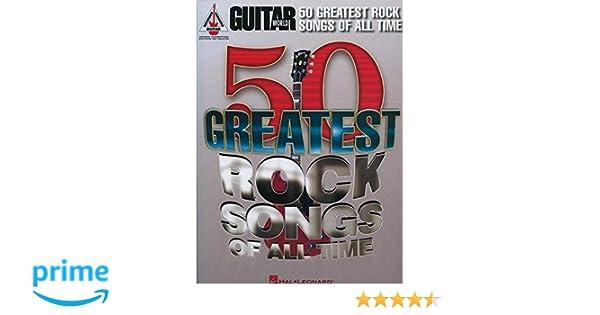 Guitar World: 50 Greatest Rock Songs Of All Time Guitar Recorded Versions: Amazon.es: Hal Leonard Publishing Corporation: Libros en idiomas extranjeros