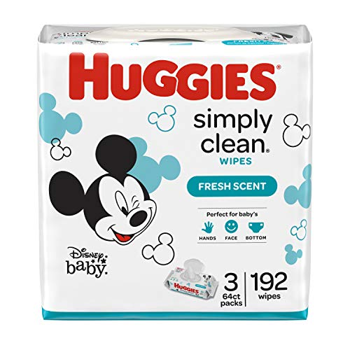 Huggies Simply Clean Fresh Scented Baby Wipes, 3 Ct