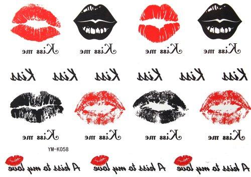 (GGSELL 2012 latest new design hot selling tattoo stickers waterproof female models KISS the lip print Totem temp tattoos)